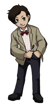 Chibi 11th Doctor by TwinEnigma