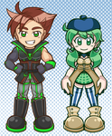 Commission - Kyrus and Maddie Charms by MystSaphyr