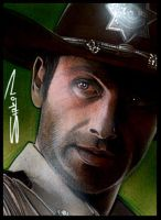 Rick Grimes Walking Dead by RandySiplon