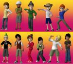 The guys of TDI as Meez by Canadian-gurl123