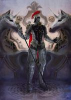 Tarot card::knight of staff by zionenciel