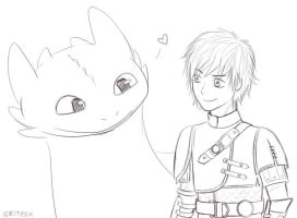 How to Train Your Dragon 2 - Hiccup and Toothless by ritziix