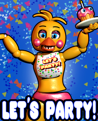 Remake|C4D|Let's Party Poster by YinyangGio1987