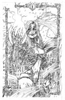 Witchblade Pencils by MichaelOdomArt