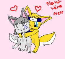 naruhina pup love :3 by Airmon