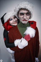 Harley Quinn and Joker (Christmas version) 10 by ThePuddins