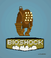 Pixel Art Bioshock by Loweak