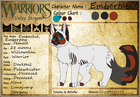 Embertail Of Willowclan by SophSouffle
