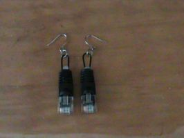internet cable earrings by Ice-Toa-Lover