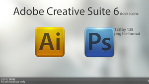 Creative Suite 6 icons by Deiz787