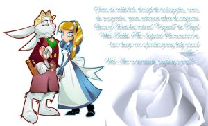 The White Rabbit and Alice by JasmineAlexandra