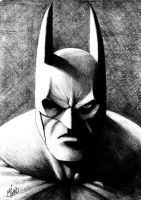Pencil Batman by Harshcore