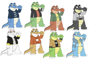 Alegator color palettes by GlassesGator