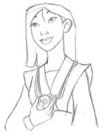 Mulan sketch 2 by landesfes
