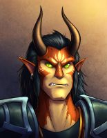 Faces of Wildstar - Kurik Lein by evion