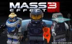 LEGO Mass Effect 3 Character Minifigs by Saber-Scorpion