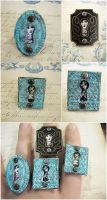 Patina Peephole Rings by asunder