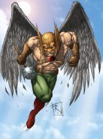 Hawkman Colored by RudyVasquez