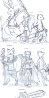 Redwall sketches by kitfox-crimson