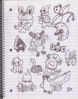 Pokemon Sketchdump by uhnevermind