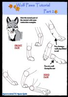 Wolf paws tutorial part 2 by Aquene-lupetta