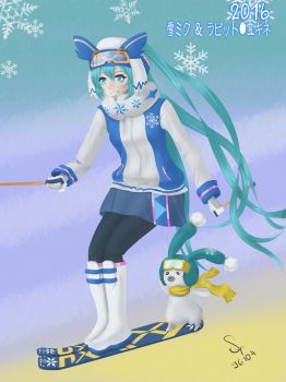 [Fan art] Snow Miku 2016 by 96104