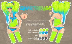 chartreuse ref sheet. by eloquentllama