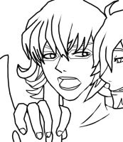 Tiger and Bunny Line Art by Siyome