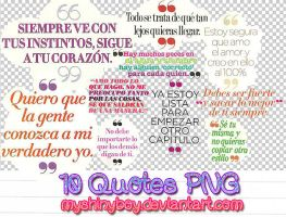 10 Quotes PNG by MyShinyBoy