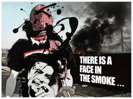 There is a face in the smoke by O-Nobody-O
