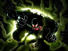 Spidey vs Venom by Rancez