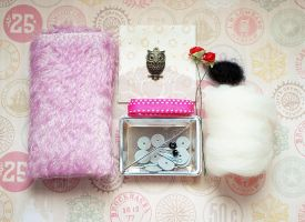Complete Orchid Mohair Kit for a Chubby Friend by ShadowedPorcelain