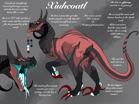 ID 003 Xiuhcoatl - 2017 REF SHEET - by WabbaMadness