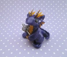 Glitter Purple Key Keeper Dragon by KriannaCrafts
