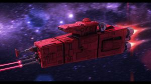 Colonizing Scoutship/Ground Turret 3D Commission by AdamKop