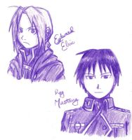 Edward Elric and Roy Mustang by Brainiac6Techgirl