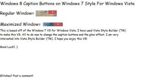 Windows 7 Style For Vista With 8 Caption Buttons by TheVistas2004