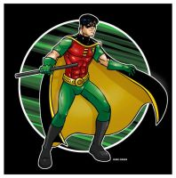 Robin - The Boy Wonder. by inkdropstudio