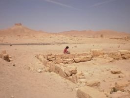 Cris drawing at Palmyra by crisurdiales
