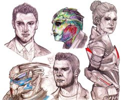 Mass Effect Heads 2 by Hariamu