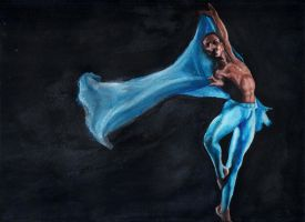 Dancing blue by carlacorvino