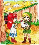 Link and Malon by Nenie