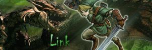 Link Vs Rathalos -Link- by Aegid