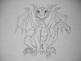 Grining Dragon First Sketch by Kawaii--Koneko