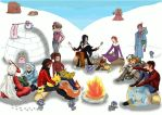 Winterevent Lagerfeuer (Megacollab) by ThymoSophie