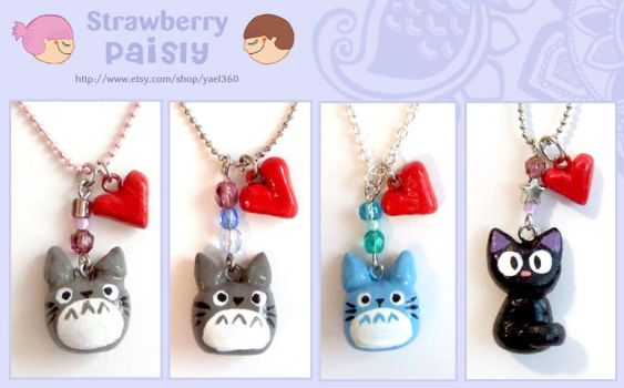 Totoro necklace and more by yael360