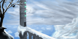 Snowy Tower - Quick landscape by Yveo