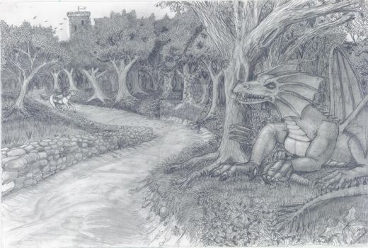 Lying In Wait - Pencil Sketch by GraphiteWeb