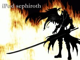iPod sephiroth by creatingmyths