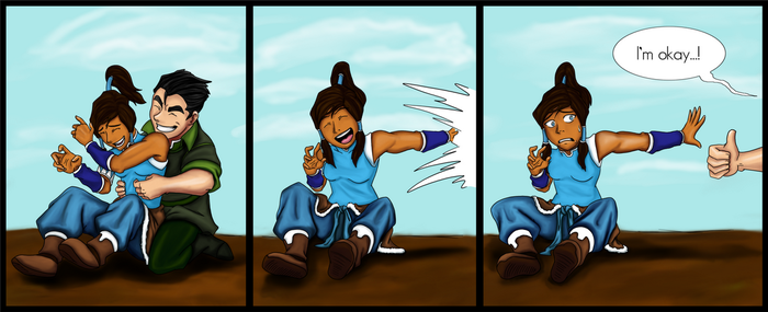 Bolin and Korra Funsies :Colored: by Missvirginia